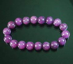 "Good Gift Tibet Purple Veins .4"" Gemstone Beads Buddhist Prayer Mala Bracelet"