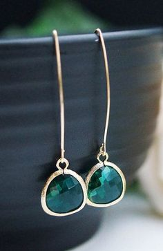 Modern Jewelry Modern Earrings Matte gold framed