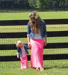 Mommy & Me matching maxi skirts by OhSewLovelyCreations on Etsy, $32.95