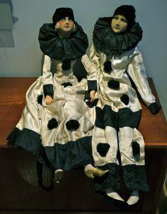2 Poupées DE Salon Arlequin ET Colombine Années 20 30 | eBay
