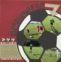 Love this design for a soccer page! Just gotta figure out an easy way to 'make' the ball.