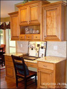 Kitchen Desk Areas On Pinterest