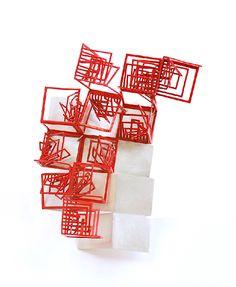 Alice Bo-Wen Chang -Bodyspace/bodyscape - brooch - red