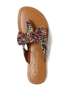 jessica simpson bow sandals! i love her