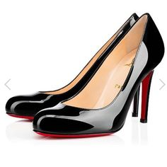 "Christian Louboutin Simple Patent Leather Pumps Bought at Barneys New York. In excellent condition. Only worn twice. Comes with original box as well as red shoe bag. The inside of both heels has some peeling of the leather. Simple Pump 100 Patent. 4"" heel. Christian Louboutin Shoes Heels"