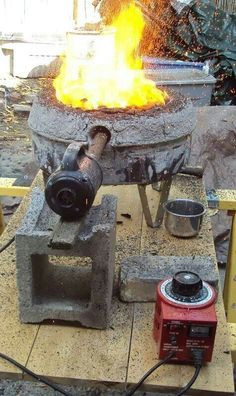 Portable Hearth for smelting steel by Mark Green