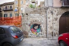See 162 photos and 10 tips from 1014 visitors to Porto Antico della Cala. Palermo, Four Square, Graffiti, Italy, Art Installations, Cool Stuff, Porto, Murals, Colors
