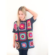 Frank&Olive Oversized Granny Square Jumper Pattern Crochet pattern by Frank&Olive