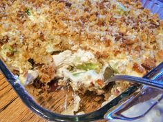 Company Chicken Casserole - a crowd pleasing dinner that does not leave leftovers!