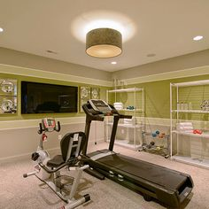 Home Gym Exercise Room Small Design, Pictures, Remodel, Decor and ...