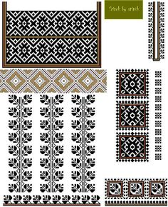 Українські традиційні орнаменти Floral Embroidery Patterns, Folk Embroidery, Cross Stitch Embroidery, Cross Stitch Patterns, Sewing Patterns, Cross Stitch Cushion, Needlework, Stencils, Knitting