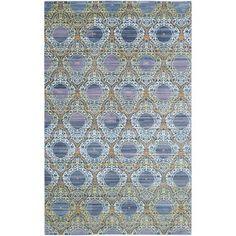Safavieh VAL Lavender/ Gold Polyester Rug (4' x 6')