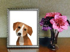 Check out this item in my Etsy shop https://www.etsy.com/listing/456771646/dog-printable-wall-art-geometric-art