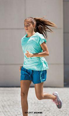 Runner in blue.