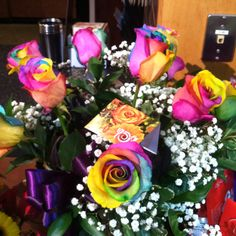 Wegmans rainbow roses, yes they are real!