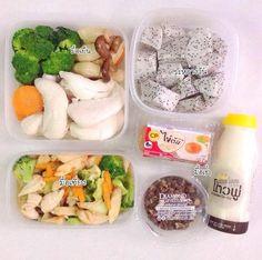 มื้อเช้า : ธัญพืช น้ำเต้าหู้ และไข่ต้ม ไม่ได้ทำเองซื้อล้วน ๆ             มื้อเที่ยง : ผัดผักอกไก่ มีข้าวนอกเฟรม ผัดด้วยน้ำมันมะกอก ปรุงรสด้วยซีอิ๊วขาว น้ำมันหอย และพริกแดงตำเล็กน้อย              มื้อเย็น : อกไก่นึ่งและผักนึ่ง              ระหว่างวัน : ผลไม้ (แก้วมังกร)