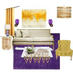 Purple And Gold Living Room Part 80
