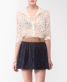 getting this weekend.  so cute.  Sheer Ditsy Heart Shirt | FOREVER21 - 2000048006