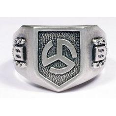 WW II German SS silver ring.