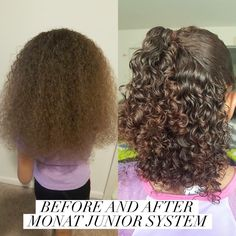 This message is from a hairstylist! Holy guacamole! Check out my client's little girl! 1 wash after using Monat Junior System!! I'm AMAZED! *she DID give me permission to share and said feel free for anybody else to use!