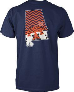 Auburn Chevron State Auby t shirt Navy