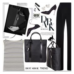 """Dark Romance"" by mashajazzliving ❤ liked on Polyvore featuring Misha Nonoo, Yves Saint Laurent, Casadei, Mikimoto, Bobbi Brown Cosmetics, Chanel and dlr"