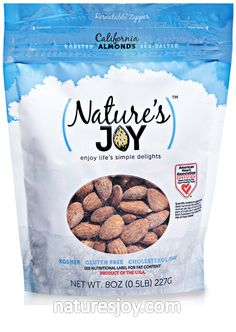 Nature's Joy 8 ounce almonds.  YUM!