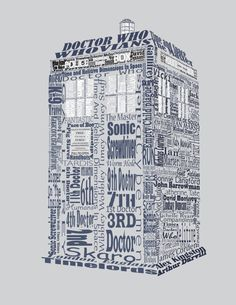 A TARDIS made out of quotes! How cool!