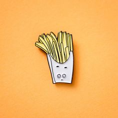 French Fry Enamel / Lapel Pin by ilootpaperie on Etsy
