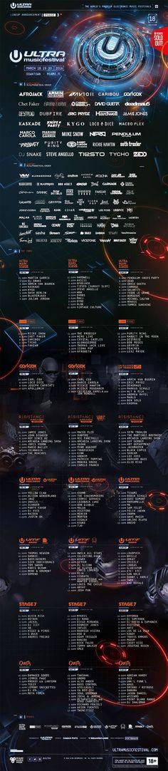 Ultra Music Festival 2016 confirms Final Lineup & Set Times