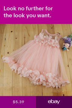Details about Flower Girls Kids Baby Princess Pageant Wedding Party Lace Tulle Tutu Dresses Baby Girl Dresses Fancy, Frocks For Girls, Kids Frocks, Baby Dress, Girls Dresses, Flower Girl Dresses, Flower Girls, Baby Tutu Dresses, Baby Jumpsuit