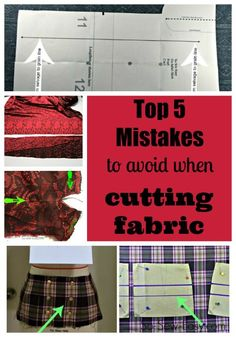 Sewing Techniques Couture Mistakes to avoid when cutting fabric - 5 Mistakes people new to sewing make when cutting fabric and how to avoid them. Diy Sewing Projects, Sewing Tools, Sewing Hacks, Sewing Tutorials, Sewing Crafts, Sewing Patterns, Sewing Ideas, Apron Patterns, Sewing Diy