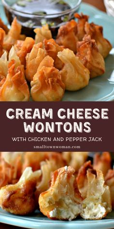 Quick And Easy Appetizers, Easy Appetizer Recipes, Yummy Appetizers, Appetizers For Party, Wonton Recipes, Cream Cheese Wontons, Great Recipes, Favorite Recipes, Good Food