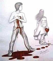 Broken Heart Pictures, Broken Heart Drawings, Sad Drawings, Art Drawings Sketches, Arte Ninja, Sad Art, Couple Art, Love Wallpaper, Love Images