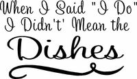 Lol! Truth! I despise dishes.