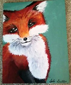 Acrylic fox  Lydia Sutton
