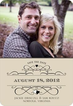 yellow gray and burlap save the date ideas | Custom Photo Magnet Save The Dates — Wedding Ideas, Wedding Trends ...