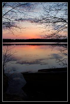Midnight sun in Köyliö, Western Finland