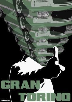 'Gran Torino' Poster Art by Manu Barba - PopOptiq Minimal Movie Posters, Film Posters, Cinema Movies, Film Movie, Film Games, Superhero Poster, Alternative Movie Posters, Comic Movies, Minimalist Poster