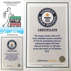 2014 witnessed an #international #humanitarian #aid of the #iglesianicristo #churchofchrist which held a #charityevent  for the  #yolandavictims #typhoonhaiyan victims held #simultaneously not only in the #philippines but #worldwide across crossing 13 #timezones which set a new @guinnessworldrecords for multiple venues and broke another record.  #GloryBeToGod Please visit www.incmedia.org