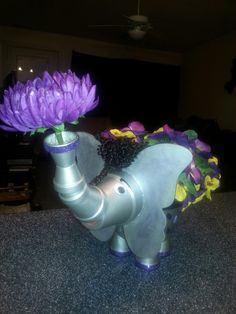 Clay Pot Crafts, Terracotta Pots, Clay Pots, Wind Chimes, Diy Design, Dinosaur Stuffed Animal, Elephant, Arts And Crafts, Crafty