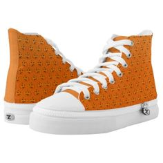 orange halloween pumpkin pattern High-Top sneakers - Halloween happyhalloween festival party holiday