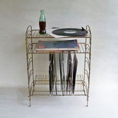 Vintage Retro Golden Wire Standing Record Rack Mid Century Album Kitsch  Storage | EBay | Mid Century Please | Pinterest | Wire, Mid Century And  Storage