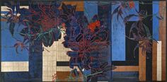 Robert Kushner Prints | Red Dahlias and Monarda by Robert Kushner
