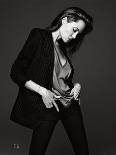 Angelina Jolie shot by Hedi Slimane for American Elle US June 2014