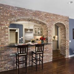 Brick Cut Out For Breakfast Bar