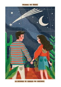 Kathrin honesta on behance. kathrin honesta on behance couple illustration Couple Illustration, Portrait Illustration, Character Illustration, Digital Illustration, Illustrations And Posters, Aesthetic Art, Cute Wallpapers, Cute Art, Art Inspo