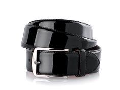 Schwarzer Lack-Gürtel aus feinem Boxcalf passend zu den Lackschuhe von www.shoepassion.com Siehe http://www.shoepassion.de/lederguertel-herren/herrenguertel-aus-lackleder.html