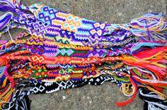 Wholesale, set 12  friendship bracelets, 4 cm, wide nylon Fair Trade new colours