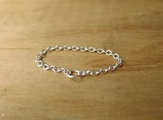 Sterling Silver Chain Ring. $25.00, via Etsy.